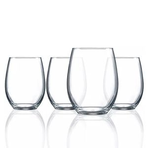 Luminarc Stemless Wine Glasses